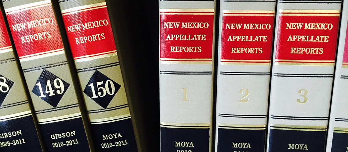 A close up image of New Mexico Appellate Reports - Books